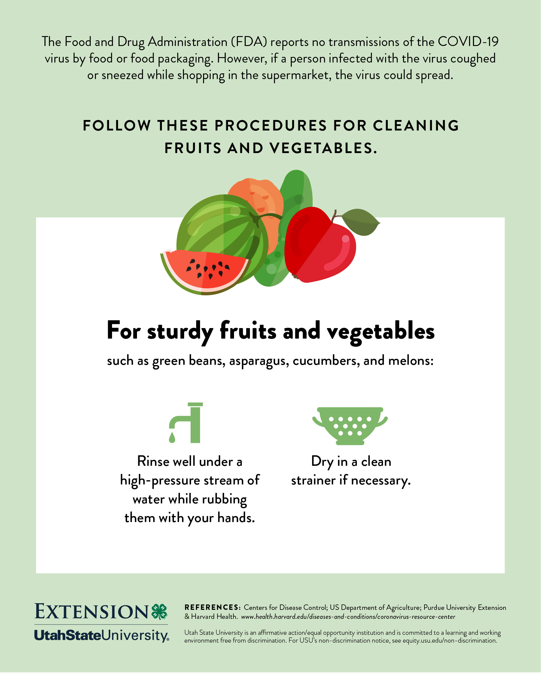 Cleaning sturdy fruits and veggies