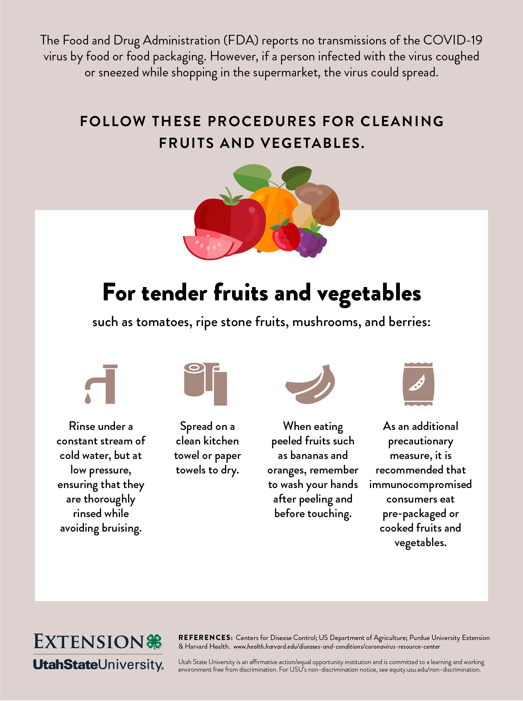 Cleaning tender fruits and veggies