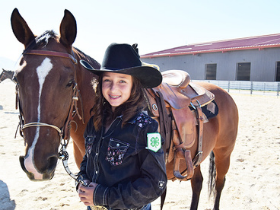 4-H youth and horse