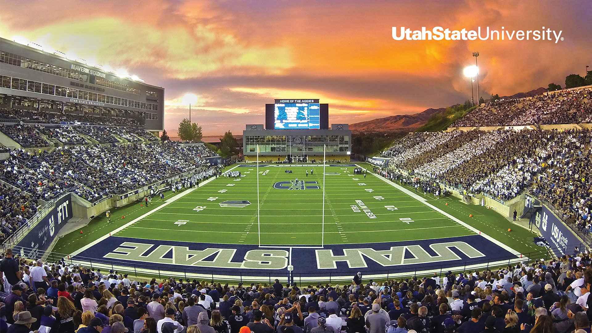 USU football Game - Extension Zoom background