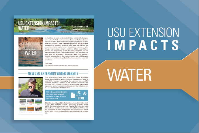 USU Extension Impacts: Water