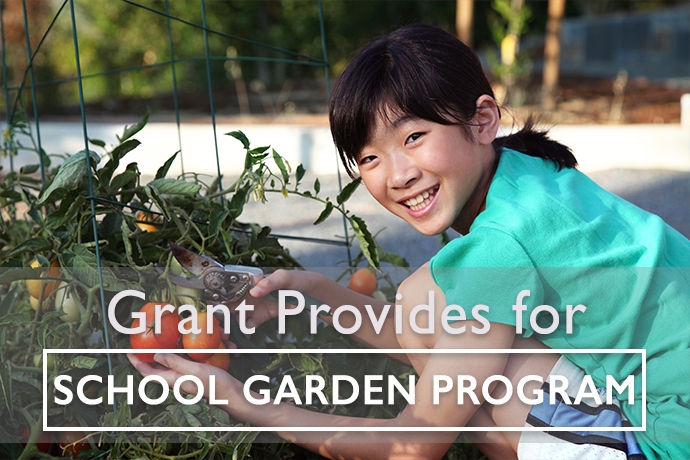Grant Provides Funds for School Garden Program