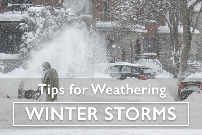 Tips for Weahtering Winter Storms
