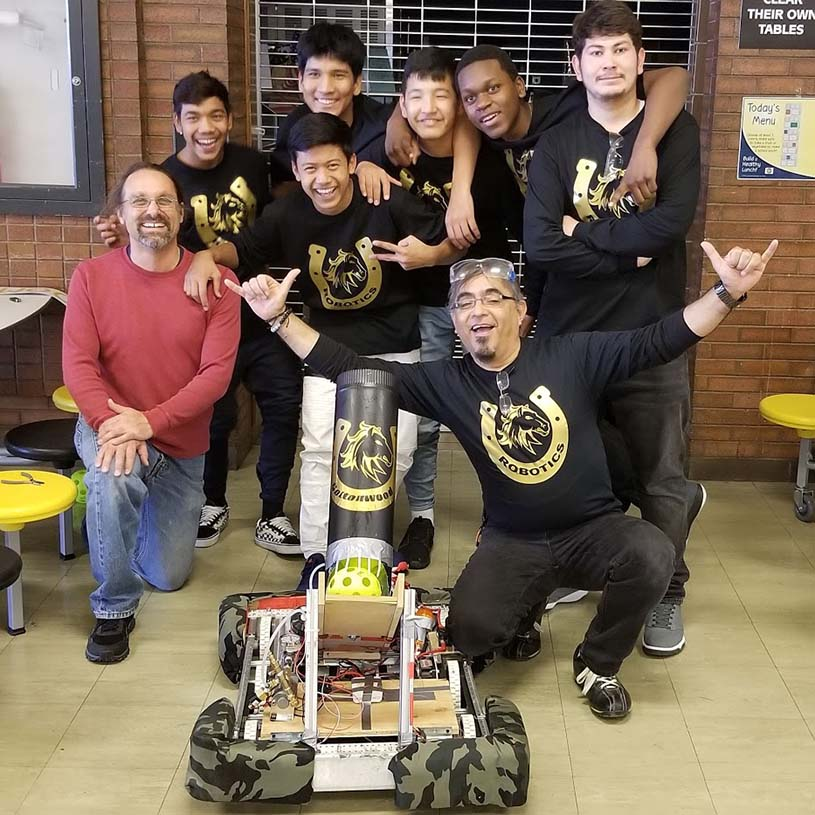 4-H robotics team