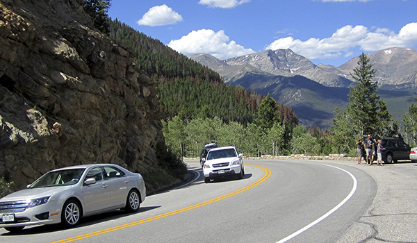 Traffic in Rocky Mountain National Park