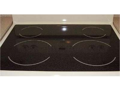 Image of a smooth cooker oven top.