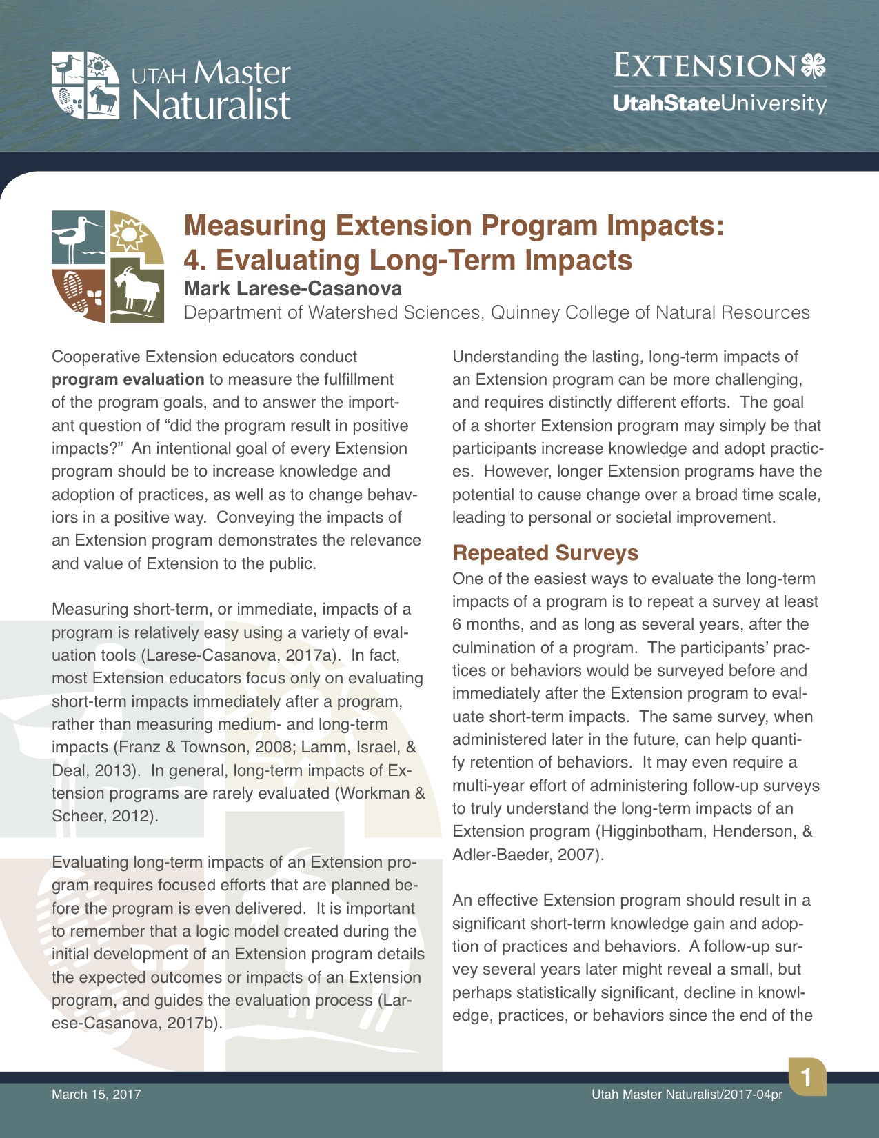 Impacts Fact Sheet 4 Cover