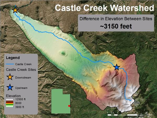 castle creek map