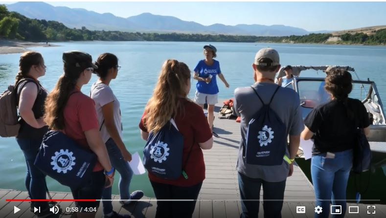 GearUp Camp Hyrum Reservoir boat activity