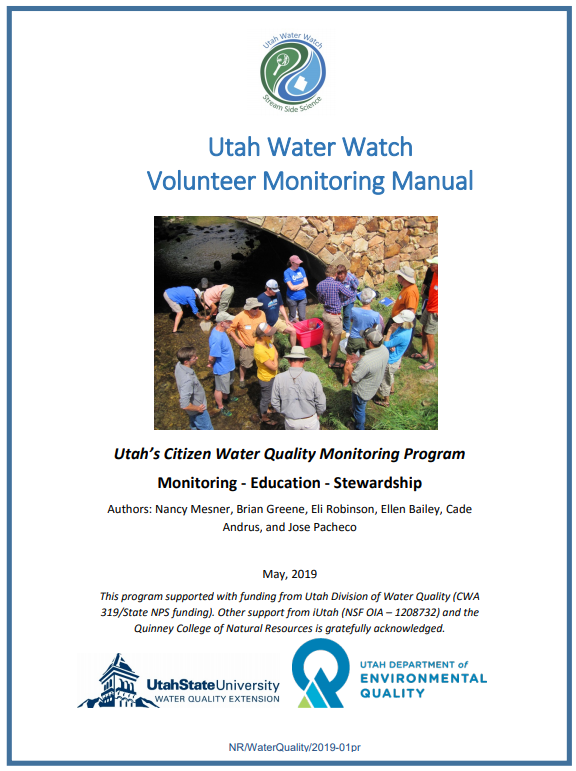 Cover of Utah Water Watch Manual